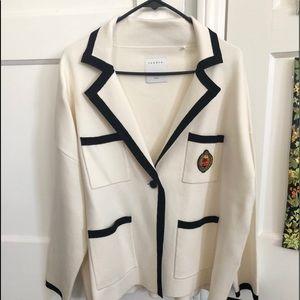 New Sandro Tailored Jacket -like Sweater